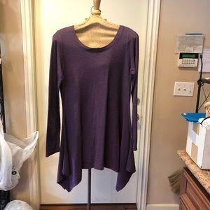 Purple cut loose tunic